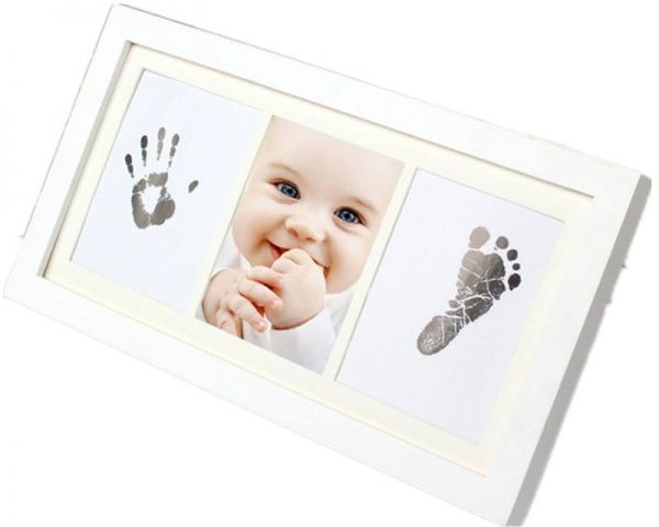 Babyprints Newborn Baby Handprint and Footprint Photo Frame Kit with ...