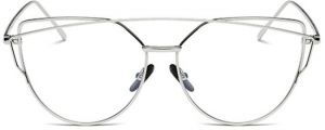 d8ac4a091a6 hindfiled clear lens cat eye glasses frame women plain eyeglass s01