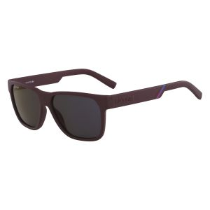 cfcbe8b8763034 Lacoste Rectangle Sunglasses for Men - Dark Brown Lens