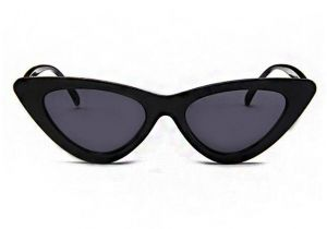 d89a50c2e56e8 Retro Vintage Narrow Cat Eye Sunglasses for Women Clout Goggles Plastic  Frame