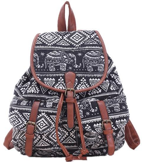 Ladies casual Backpack cool outside bag leisure storage bag Women s backpack  college student COTTON bag ethnic style  e0aa30153e