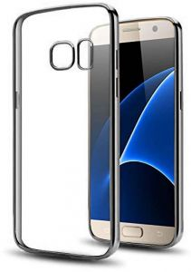 Jinyama for Samsung Galaxy S7 (5.1 inch) Soft Transparent TPU Jelly Protective Case Cover, Clear Back Cover, Ultra Slim Scratch Resistant Full Back ...