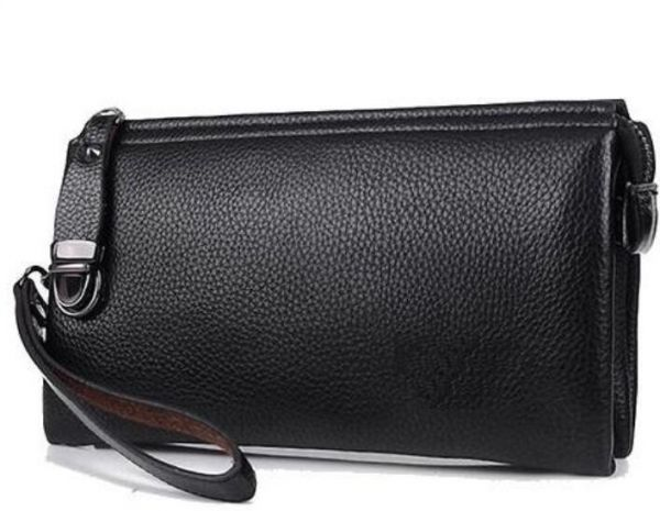 FEIDIKA POLO Black Leather Large Capacity cluth male wallets For Men - Zip  Around Wallets dbafd50c61d7f