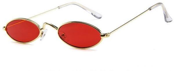 6f34dd4776 Vintage Oval Sunglasses Small Metal Frames Designer Gothic Glasses Red. by  Other