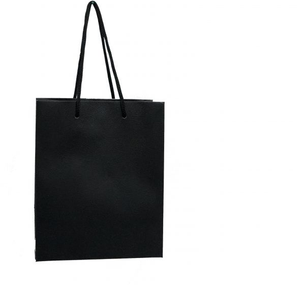 141c8659e85a Plain Medium Black Paper Bags with Handles for Gifts