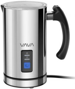 Vava Milk Frother Electric Liquid Heater With Hot Functionality Stainless Steel Steamer For Latte Cuccino Chocolate Fda