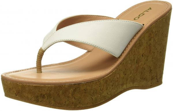 Aldo Wedge Sandals for Women - White