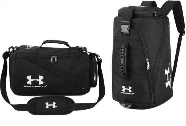 Under Armour UA Medium Duffle Bag Sport Duffle Gym Bag Travel Bag - Black