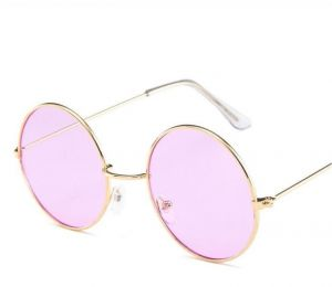 29c3eeb47bf8f Vintage Round Sunglasses Women Ocean Color Lens Mirror Sunglasses Female  Metal Frame Circle Glasses Oculos UV400 Light Purple