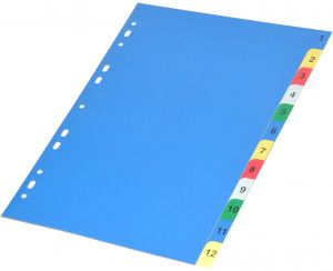 Fis Color Pp Dividers 1 12 English A4 Size Fsdv316n