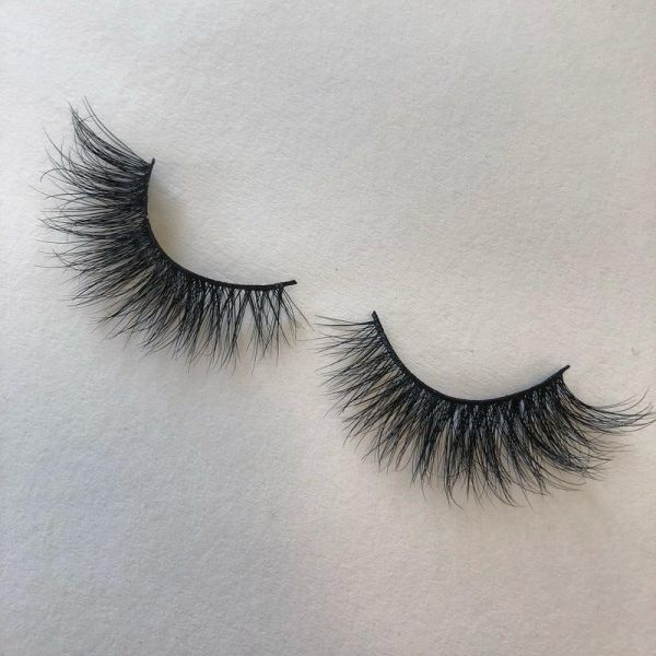 3d Fashion Bushy Cross Natural False Eyelashes Mink Hair Handmade