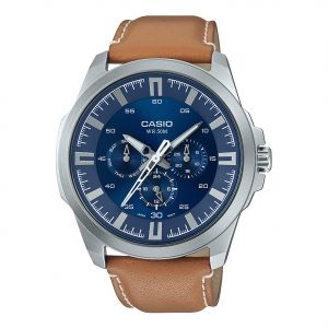 ef7e90150aa Casio Men s Blue Dial Leather Band Watch - MTP-SW310L-2AVDF