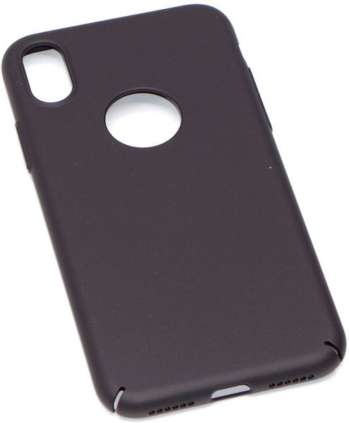 Black Ultra Slim Phone case, Protector for iphone x, Logo area cut for  showing apple Logo