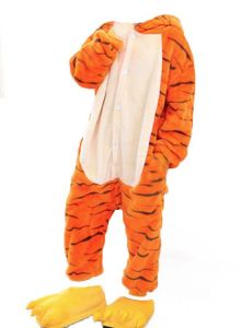 animal kitten Tigger long sleeved one-piece Conjoined pajama men women and  children flannel cartoon animal costumes at home performance clothing  costumes ... abeb0852b