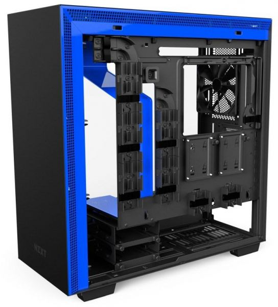 Nzxt H700i Mid Tower Computer Case Matte Blackblue Ca H700w Bl