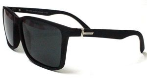 bd31c640c52 Polarized sunglasses for Men with black frame and UV400 lenses in Wayfarer  shape