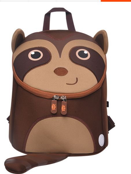 Cocomilo Brand Anti-lost kindergarten cartoon raccoon cute pattern Backpack  School Bag for child Cartoon Sloth Design Small School Bag | Souq - UAE