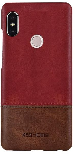 huge selection of 891f4 dce9c Xiaomi Mi A2 Lite / Redmi 6 Pro Kezihome Leather Case Cover - Red ...
