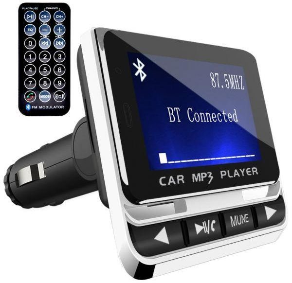 FM Transmitter,Wire-Less Blue-Tooth Hands-Free Car Mp3 Music Player Fm Transmitter Car 5V//2.7A USB Car Charger/_Silver