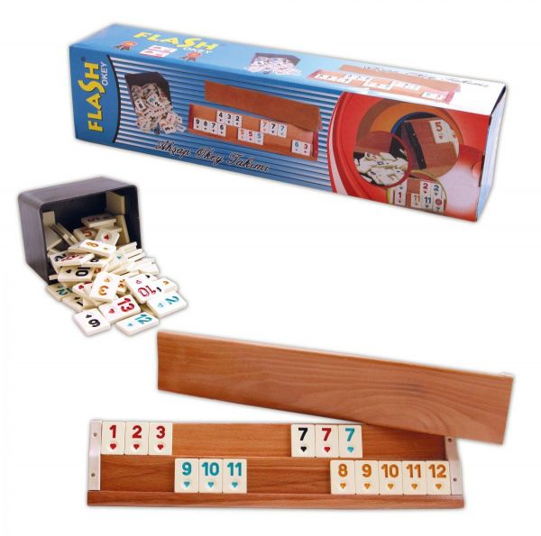 The Okey Game Contains Stone And Dice Made Of Wood