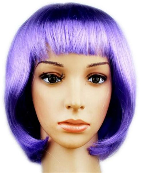 Synthetic Short Straight Bob Costume Hair Wigs for Women s Girl s Cosplay  Halloween Party Hot Natural As Real Hair  f9d81dcf36