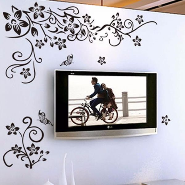 removable diy wall art decal decoration fashion romantic flower wall