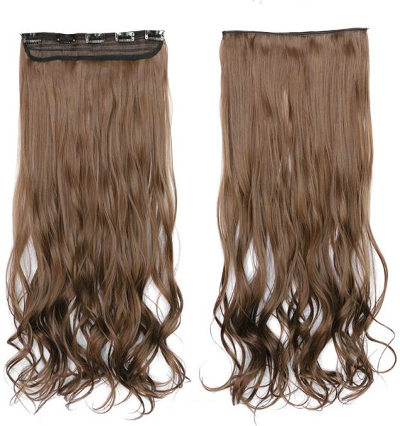 Souq Five Clip Curls Long Curly Hair Wig High Temperature Wire