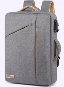 half off wholesale dealer pretty cheap Minimalist Business Briefcase Backpack, Anti-Theft Slim Thin Laptop Bag  14in Laptop Backpack travel college rucksack for Men Women, Grey
