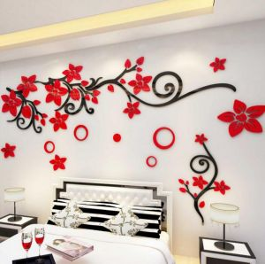 Miraculous Wedding Room Layout Bedroom Acrylic Wall Stickers 3D Stereo Tv Background Wall Stickers Living Room Wall Decoration Wall Stickers Xsq Home Interior And Landscaping Mentranervesignezvosmurscom