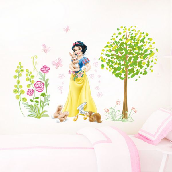 snow white wall stickers for kids room bedroom girl room removable