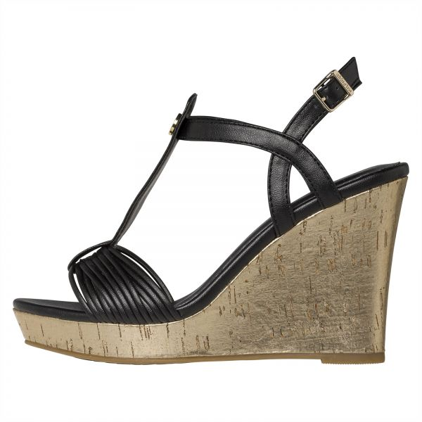 bb2a1a232 Tommy Hilfiger Wedges for Women - Black. by Tommy Hilfiger