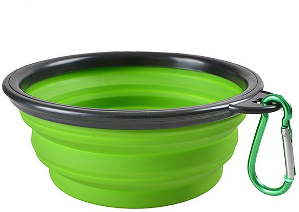 Collapsible Portable Outdoor Travel Pet Dog Bowl Silicone Folding Bowls Food Drinking Water Pet Product Bowls Freeshipping