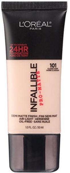 ... Infallible Pro-Matte Foundation, 101 Classic Ivory, 1 fl. oz. by L'Oreal Paris, Makeup - Be the first to rate this product