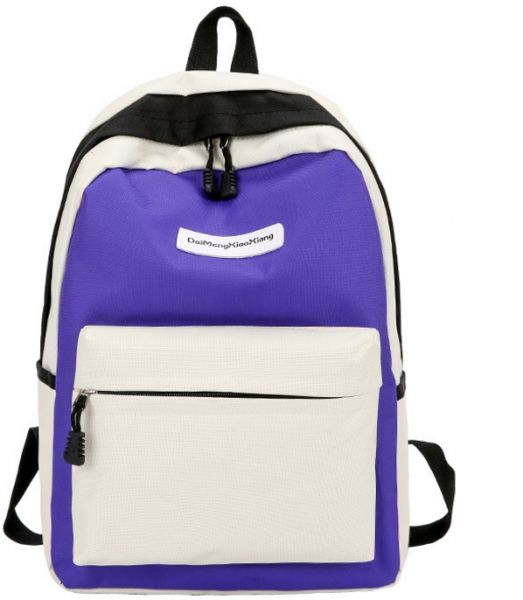 0796065385ae Harajuku style Woman Fashion Canvas Backpack Student Schoolbag Travel  Rucksack-Purple color