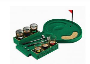 check out a3926 dfed6 Mini Table Golf Drinking Game Set with Shot Glasses 2 Putters 2 Balls  Adults Party Supplies Toys Gifts Family Indoor Board Games KBD122