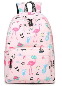 64d90a183477 Flamingo Backpack Women Printed School Bags For Teenage Girls Shoulder  Drawstring Bags Travel Students Polyester Cute Women Girl School Shoulder  Bag ...