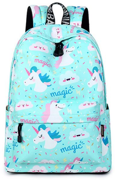 3d Unicorn Printing Multi Color Rainbow Girl Backpack School Bag Travel Rucksack Colorful Unicorn Cartoon Children School Bags For Teenager Girls Book