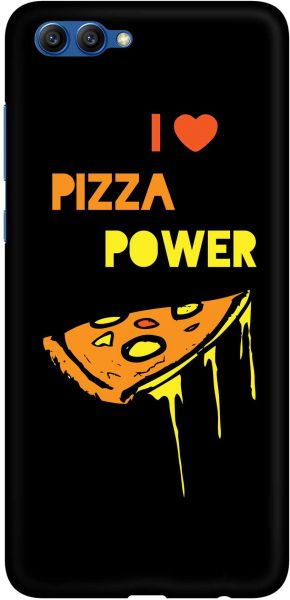 Stylizedd Huawei Honor 10 Slim Snap Basic Case Cover Matte Finish - I Love Pizza ‫(Black)