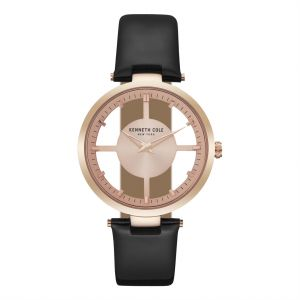 172aa06a7c7d2b Kenneth Cole Women s Rose Gold Dial Leather Band Watch - KC15004017