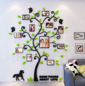 Creative Arcylic Diy Family Photo Frame Tree Wall Sticker Home Decor Living Room Bedroom Art Picture Decals Poster Es