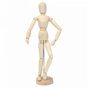 30cm 12 inch Activity Wooden Manikin Movable Limbs Human Mannequin Model
