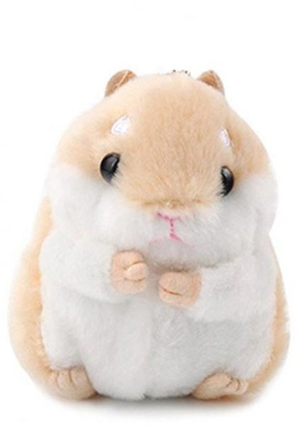 Women s Cute Hamster Plush Keychain Stuffed Animals Key Chain Charm Handbag  Bag Purse Pendant Car Accessories  fde1c0f6d8