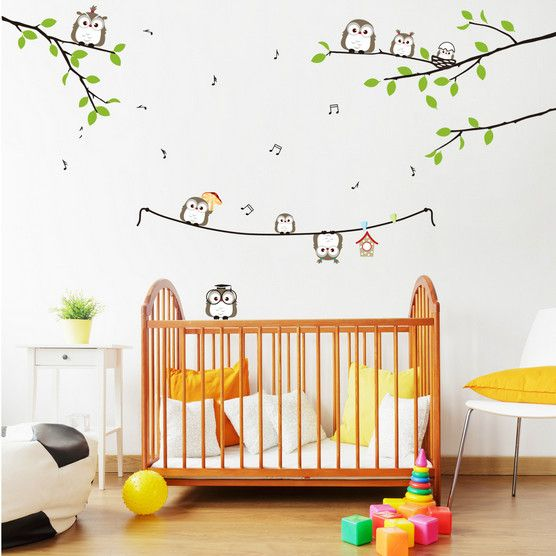 tree birds removable wall stickers baby nursery decor wall decals