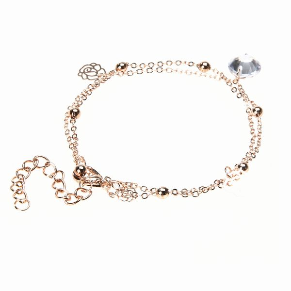 1 pc Silver Crystal Anklet Foot Chain Ankle Bracelet Wedding Women fine  Jewelry Gift  18c6ce6dc506