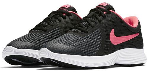 c32a67b3cb876 Nike Revolution 4 Grade Sports Sneakers For Girls - Black Pink Price ...