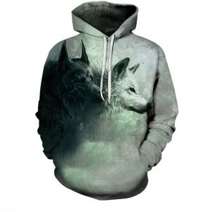 c85f831056 Colorful wolf Hoodies For Women Men fashion Streetwear Clothing Hooded  Sweatshirt 3d Print Hoody casual Pullover mm