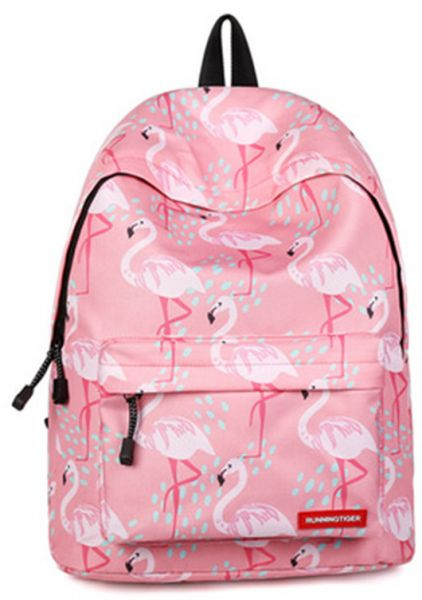 f48bc1dc2a5f Flamingo Backpack Women Printed School Bags For Teenage Girls Shoulder  Drawstring Bags Travel Students Polyester Cute Women Girl School Shoulder  Bag ...