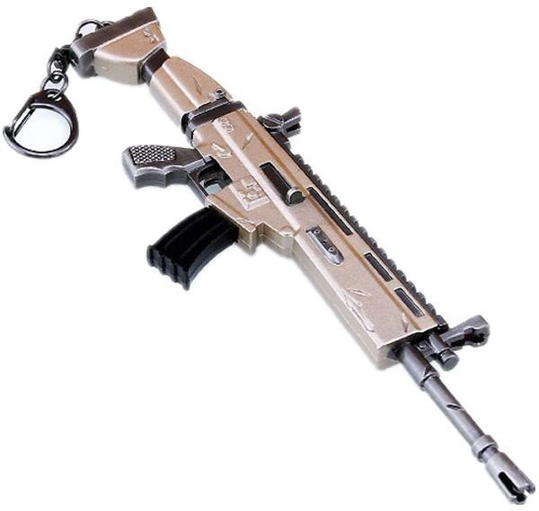 Fortnite Peripheral Scar Rifle Toy Model Keychain Alloy Weapon