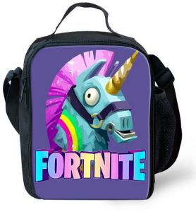 e3aa15d383 Cartoon Kids Insulated Lunch bag Fortnite lunch tote Handbag Outdoor Picnic  Cooler Bag with Shoulder Strap
