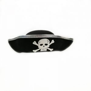 Halloween Accessories Skull Hat Caribbean Pirate Hat Skull Piracy Cap  Corsair Cap Party Supplies Costume Fancy Dress Party-Silver d53e374fa9d6